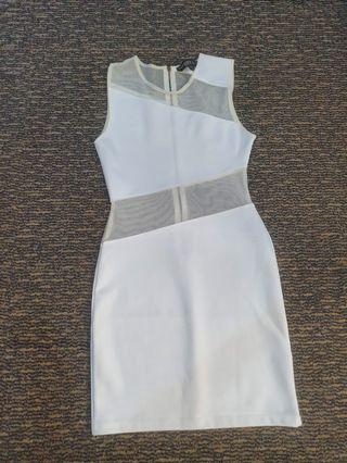 Topshop white cutout dress