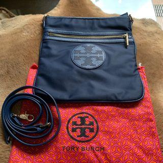 Authentic Tory Burch Blue Sling Bag