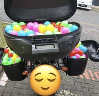 300 Sensory Plastic Balls - Random Colours - for ball pit play pen