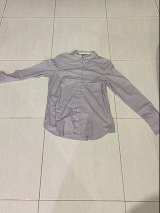 Grey H&M Women Work Top/Blouse
