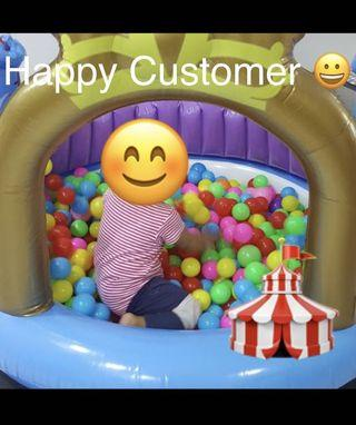 500 Colourful Fun Plastic Balls for Ball Pit Play Pen