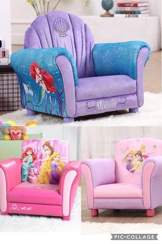 Kids Sofa Leather/Velvet Disney Frozen Cars Princess