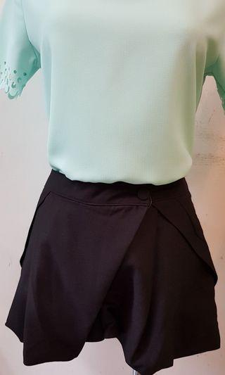 🚚 韓國造型短褲 M號 黑色