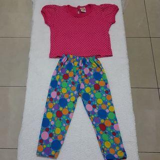 Setelan Baju Celana Legging Anak Perempuan SUNSHINE size 1-2 tahun