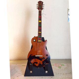 Miniature Wooden Guitar Decor