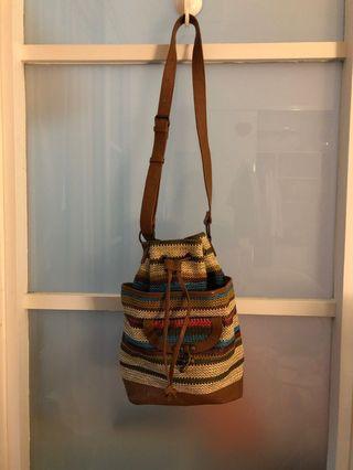 Colourful woven bag