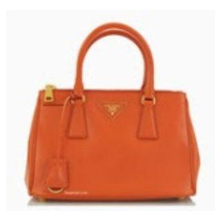 Prada BN2316 - Saffiano Leather Bag in Papaya Colour
