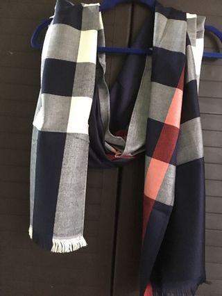 Burberry blue shawl