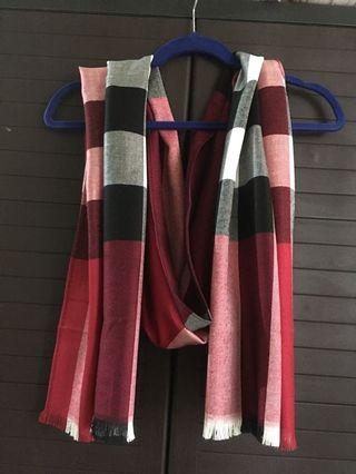 Burberry red shawl