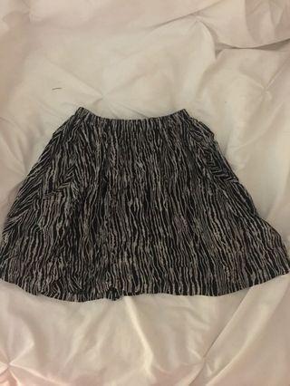 Joy Division pattern mini skirt