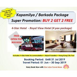BUY 2 Free 2 Hong Kong Stay in a 4-Star Hotel