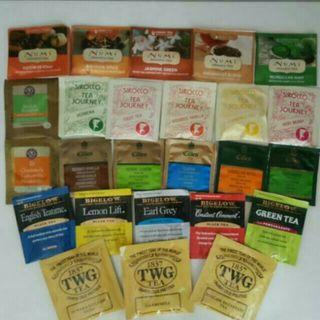 25 Individual Packs Various Unique Tea Bags From Oversea