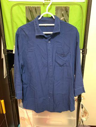🚚 Urban research 40 藍七分袖 襯衫 $199