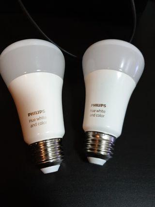 Philips Hue LED light bulbs x2