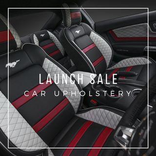 Custom Leather Car Seat, Roof lining, Door panel, Dashboard, Steering Wheel Upholstery/Cover
