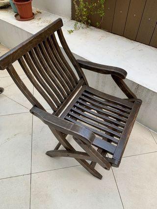 Outdoor teak wood chair