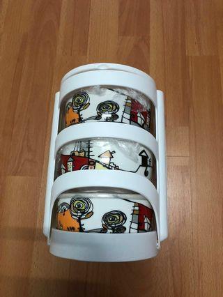 BNIB Ceramic 3-Tier Tiffin Carrier