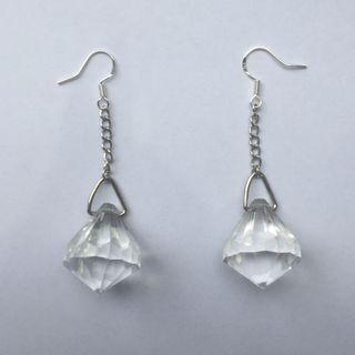 Faux diamond drop earrings