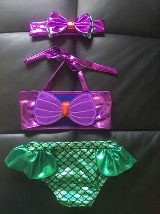 🚚 Little mermaid Bikini Set