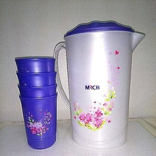 BNIB Jug and 4 Cups Plastic Ware Set