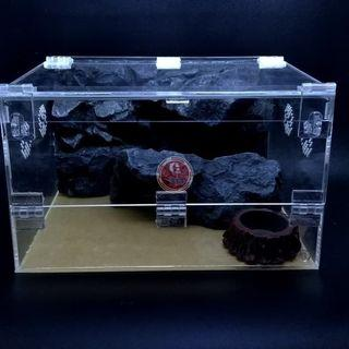 Enclosure teresterial 2 pintu full set /reptile / tarantula / scorpion