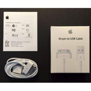 30pin~100% Original Apple 30pin cable for IPAD1/2 IPHONE4/4s