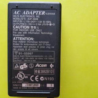 🚚 Acer laptop power adapter