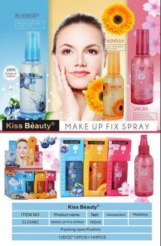 Makeup fix spray