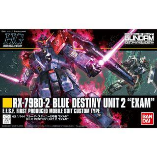 "Gundam Blue Destiny - HGUC 208 1/144 RX-79BD-2 Blue Destiny Unit 2 ""EXAM"""