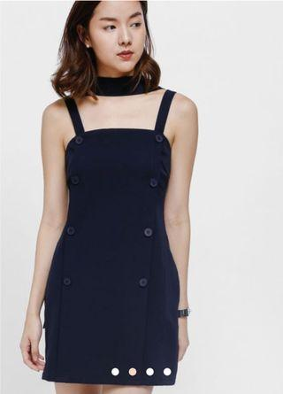 🚚 Love Bonito Narsha Button Sash Dress