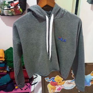 Crop hoodie top fila