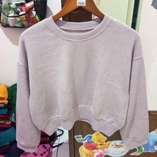 Sweater crop dusty purple