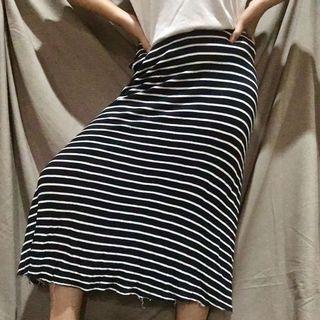 Zara Ribbed Stripe Skirt