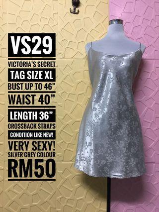 Victoria's Secret Sexy Chemise Slip Plus Size Limited Size Silver+Grey colour