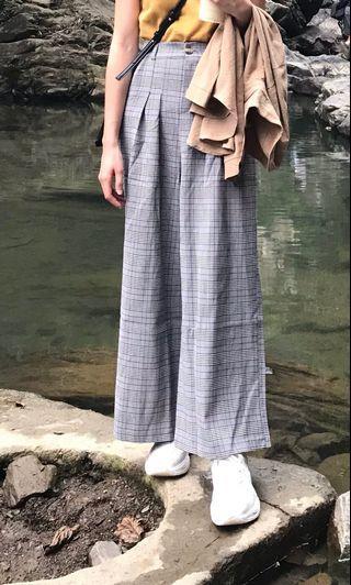 🚚 英倫格紋打折長褲
