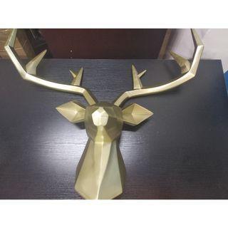 Golden reindeer decor