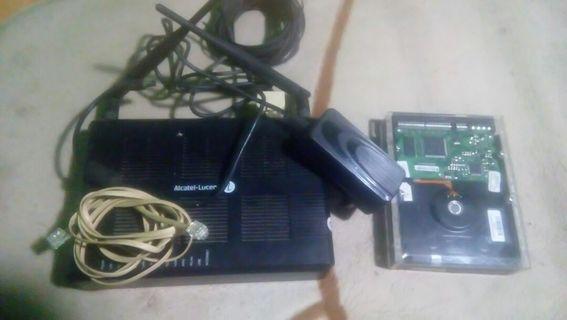Alcatel lusent g-240w-a & hardisk 80gb