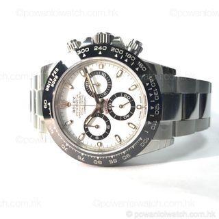 全新 #Rolex #116500LN 鋼 #Daytona 白面陶瓷圈