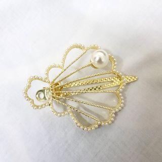 珍珠貝殼造型壓夾