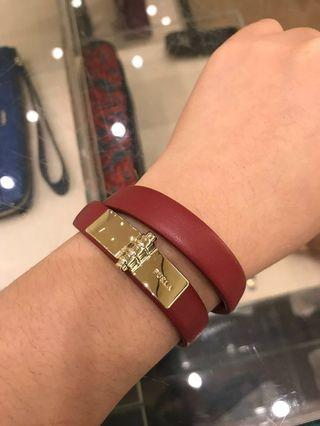 FURLA LEATHER BRACELET AUTHENTIC COMPLETE BNIB