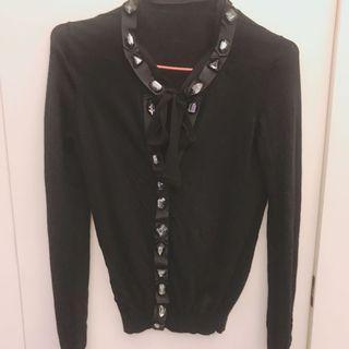 S Siza 黑色線衫外套