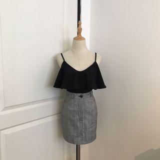Zara Shiny Strap Bodysuit (Glitter Grey)