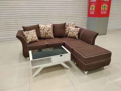 Sofa Minimalis L Dovan + Meja