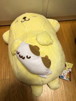 🚚 Sanrio Sleeping Pompompurin Plush Toreba