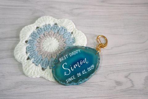 瑪瑙鎖匙扣 #畢業 #生日 #結婚 #父親節 #週年 禮物