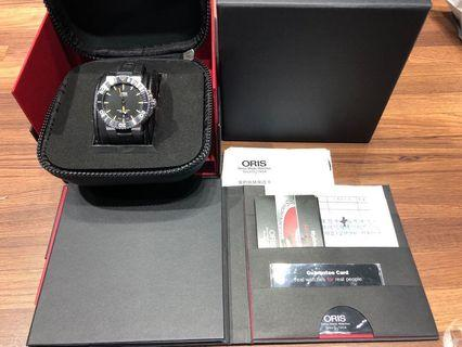ORIS Aquis 時間之海 300米潛水手錶 黑x橘/43.5mm 二手