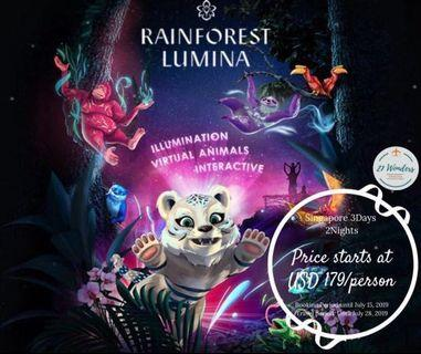 3D2N Singapore with Rainforest Lumina