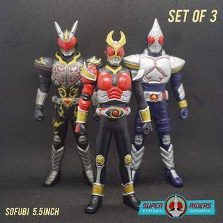 Kamen Rider Agito & Blade Sofubi (set of 3)