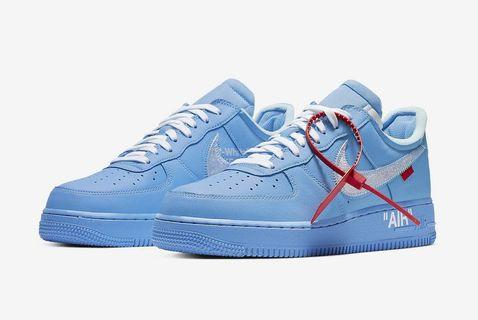 MCA Off White Nike Air Force 1 Blue