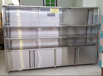 Stainless steel display unit